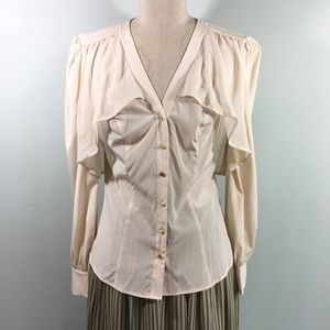 bebe // Layered Button Down Blouse / Size S / NWT